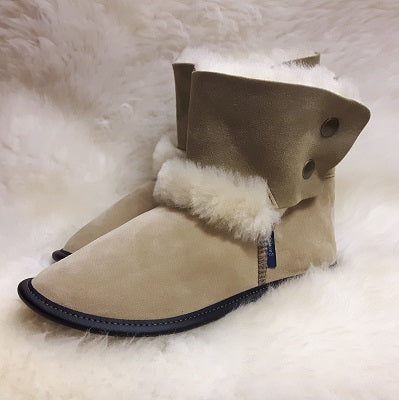 Slippers - Sheepskin - Reverse High Cut - Ladies