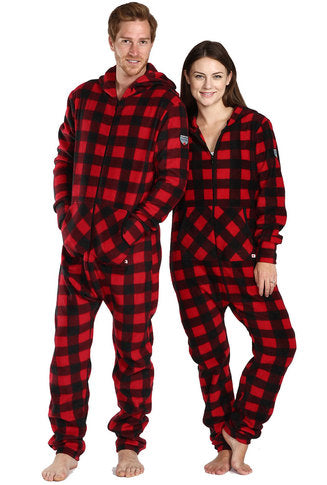 Onesie- Footless Plaid- Unisex