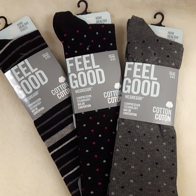 Socks - Cotton Blend - Compression - Ladies