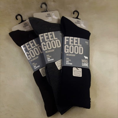 Socks - Wool Blend - Non Elastic - Men's