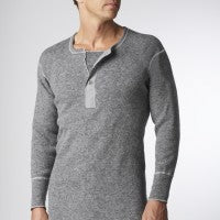 Top Wool Henley - Stanfield's Heritage - Men's 🍁
