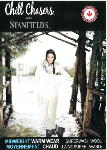 Long underwear- Standfields- Chill Chasers Superwash Merino - Cream Pants - Ladies - 4322