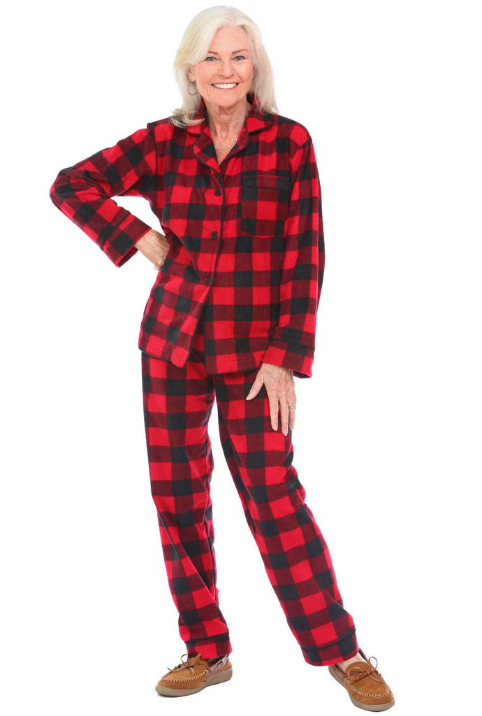 Pajamas- Canada Plaid Two Piece Set SNUMJK27