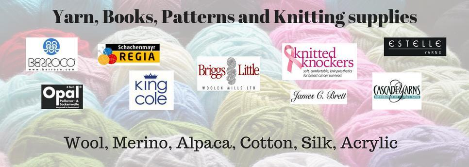 Yarn, books, patterns and knitting supplies