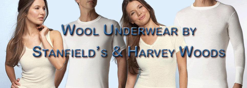 Stanfields and Harvey Woods wool long underwear