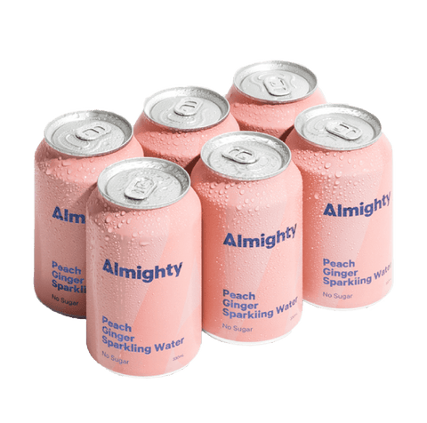 Almighty Peach & Ginger Sparkling Water Six Pack