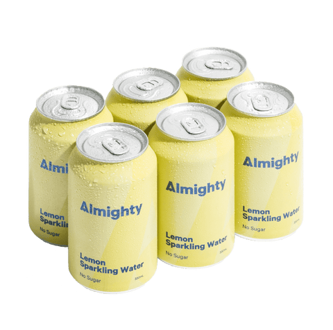 Almighty Lemon Sparkling Water Six Pack