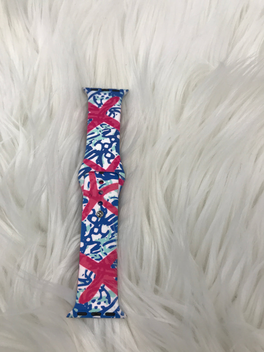 Lily Pulitzer inspired Apple watch band