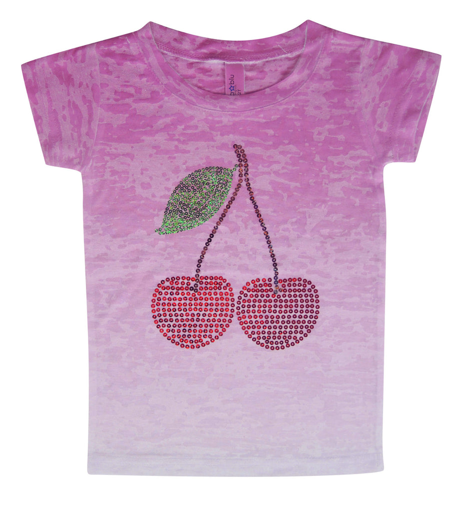 Sparkle Cherries Tee - Stella Blu Clothing