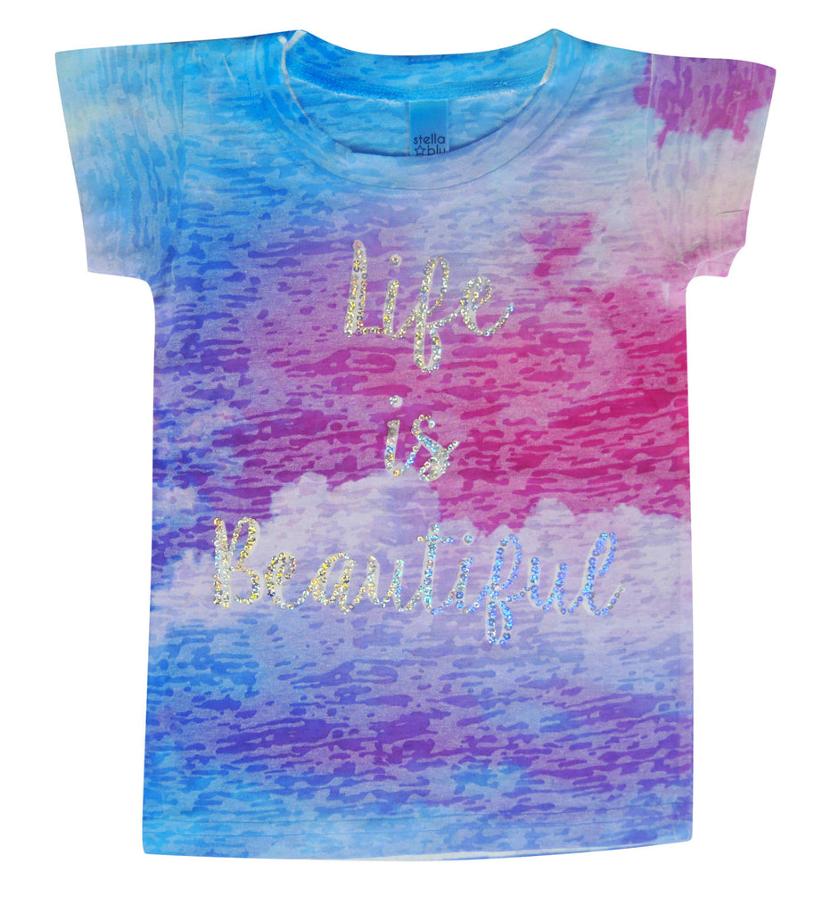 Life is Beautiful Sparkle Tee - Stella Blu Clothing