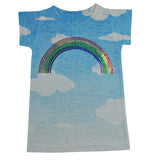 Girls Sparkle Rainbow Tee - Stella Blu Clothing