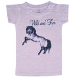 Girls Wild and Free Pony Tee - Stella Blu Clothing