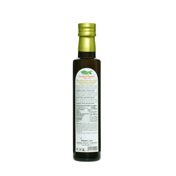 Lemon Olive Oil 250ml (8.5 Oz)