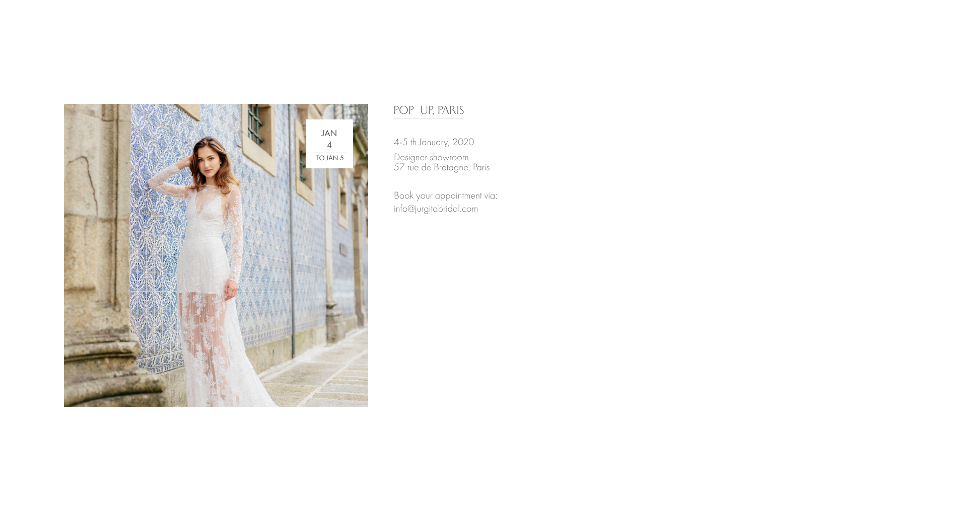 pop up Paris Jurgita Bridal