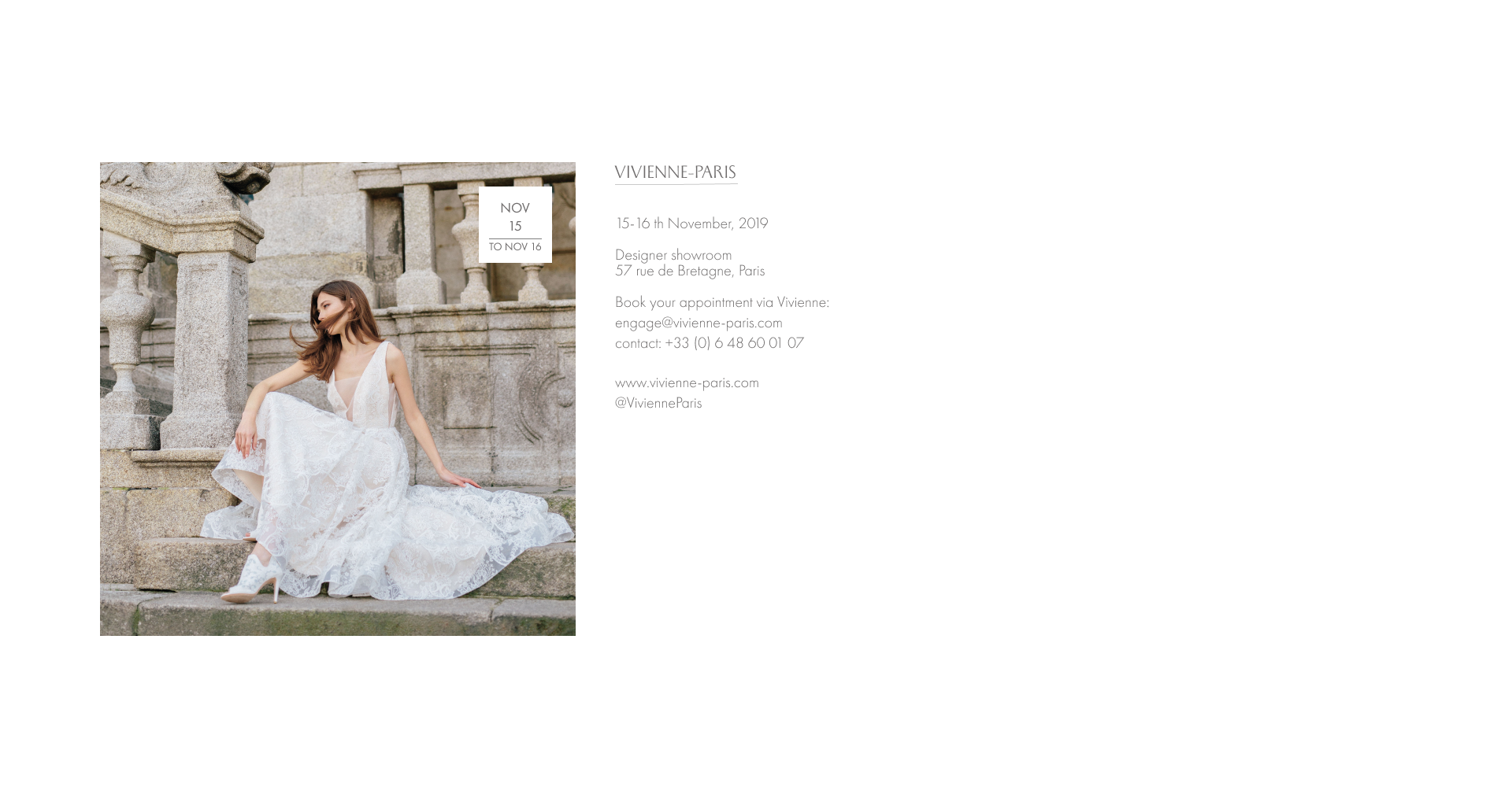 trunk show paris Jurgita bridal