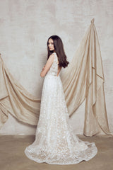 nude wedding dress