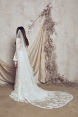 wedding drape veil