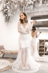 sequin wedding dress