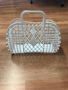 Retro Jelly Basket Large White
