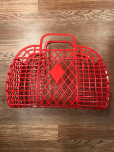 Retro Jelly Basket Red