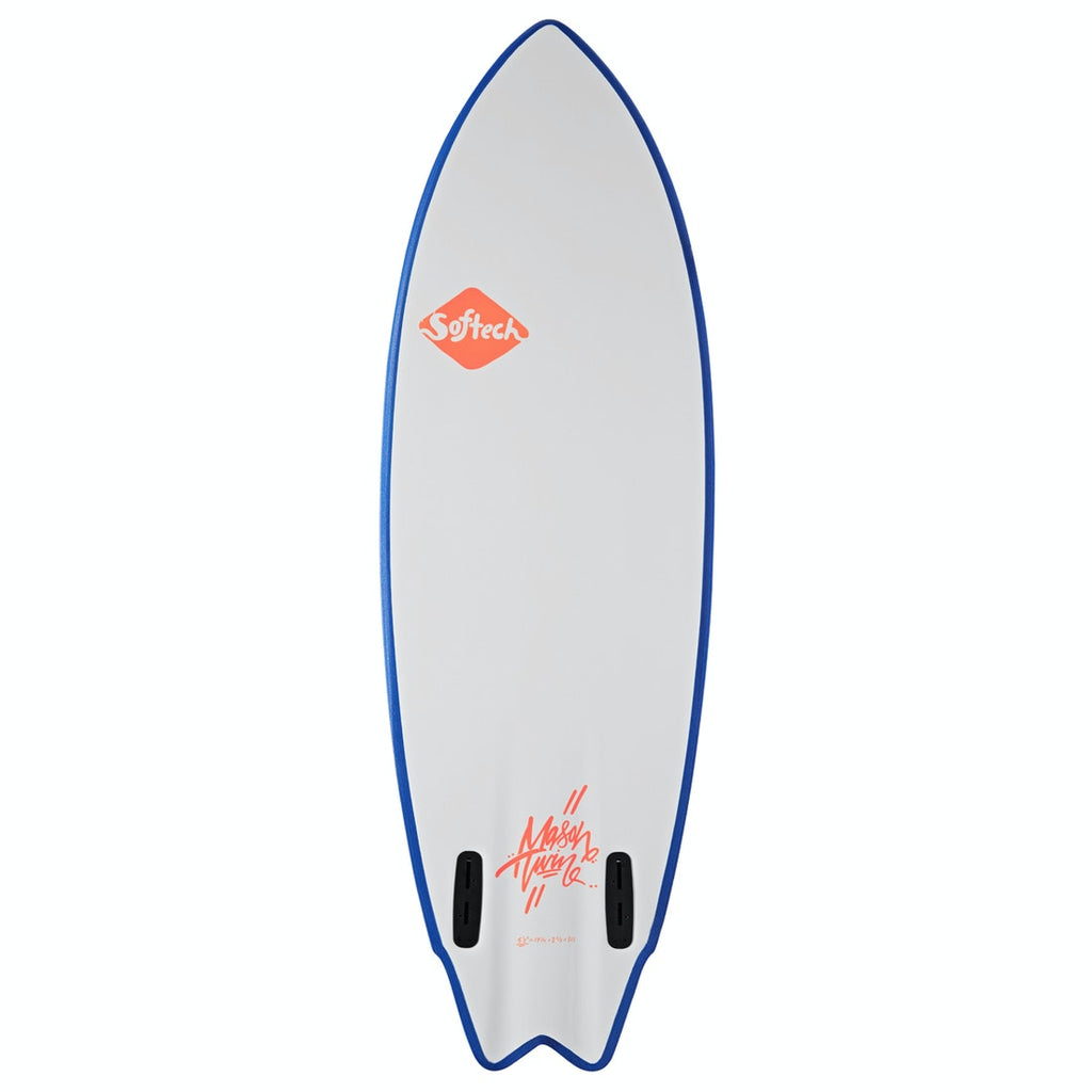 Mason Twin Size 5'2 Neon Red/White Softboard