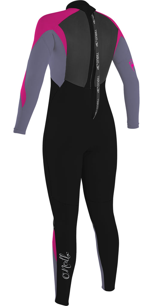 O'Neill Girls Epic 5/4 Back Zip Full BLK/MIST/BERRY