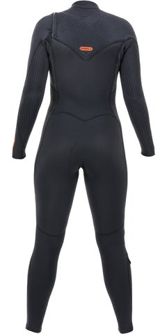 O'Neill Wms Hyperfreak 5/4 Chest Zip Winter Wetsuit  BLK/BLK