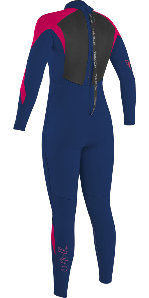 O'Neill Girls Epic 5/4  BACK ZIP NVY/NVY/BERRY