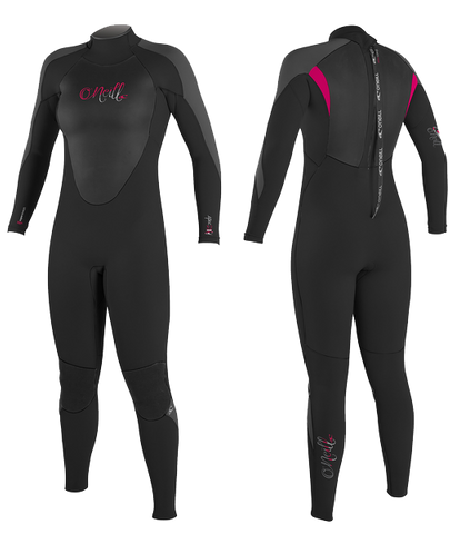 O'Neill Ladies Epic 5/4 Wetsuits - Black Water Melon