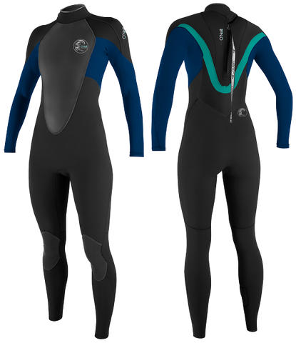 O'Neill Ladies Bahia 5/3 Wetsuits - Black Deep Sea Aqua