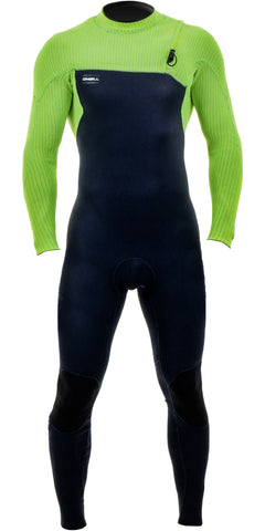 O'Neill Youth Hyperfreak 5/4 Chest Zip Wetsuit ABYSS/ABYSS/DG