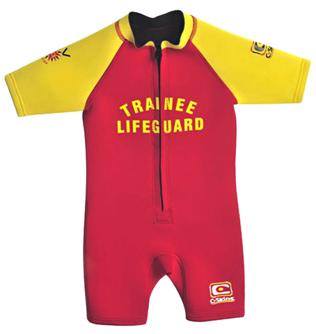 C-Skins Baby Trainee Lifeguard 3/2 FZ Shortie - Red Yellow (S14)