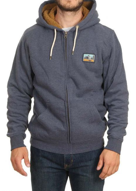 Animal Farthings Zip Hoodie - Indigo Blue