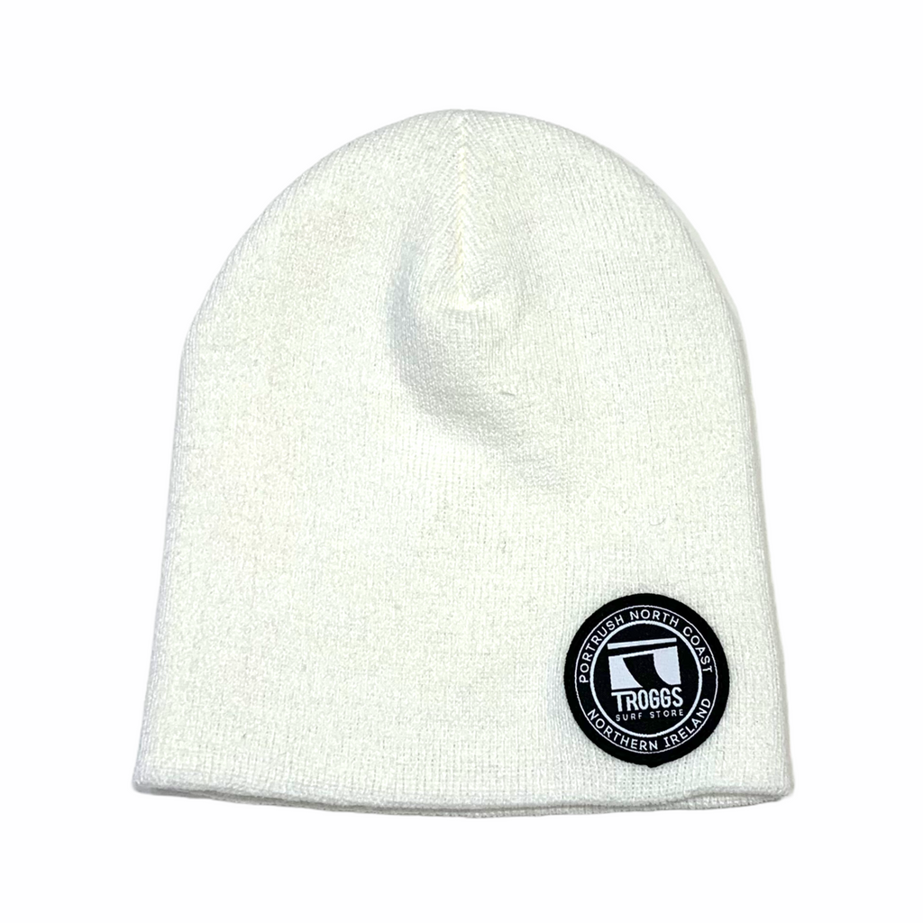 Troggs Heavyweight  Beanie White