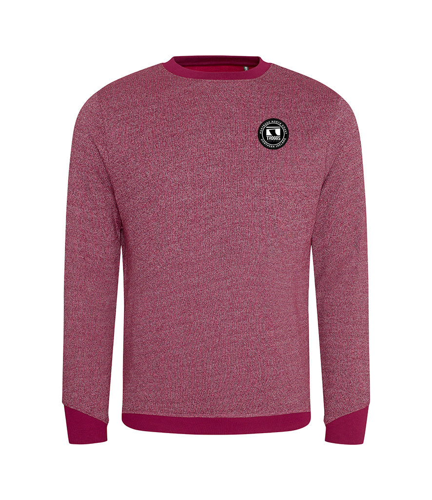 Troggs Eco Patch Sweatshirt Burgundy /White