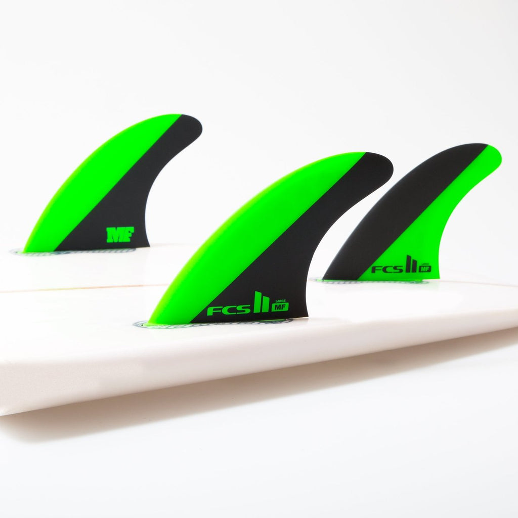 FCS II Mick Fanning Green/Black Large Tri Fins