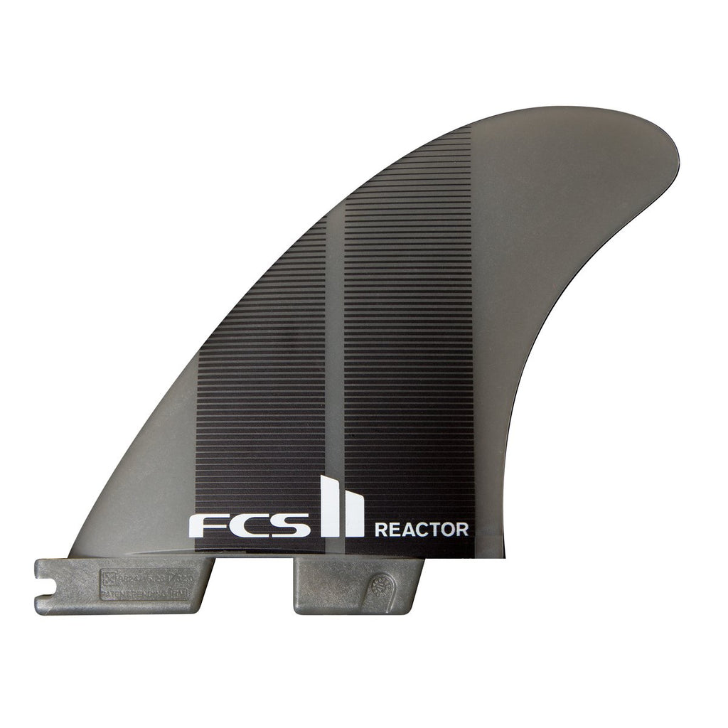 FCS II Reactor PC Medium Charcoal/Black Tri Fins