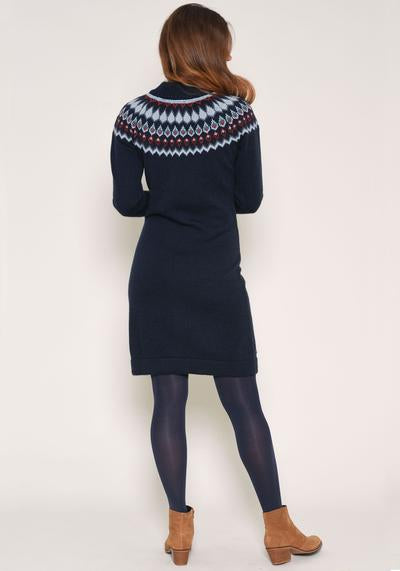 Brakeburn Fairisle Dress - Navy