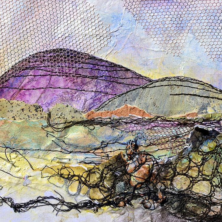 'IRISH LANDSCAPE STONE WALL' PRINT