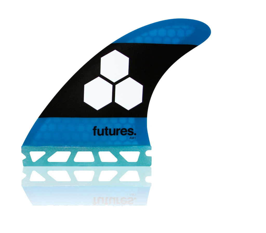 AM1 HC BLUE TRI FIN SET PACKAGED