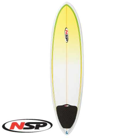 NSP 6'8 Funboard - Yellow