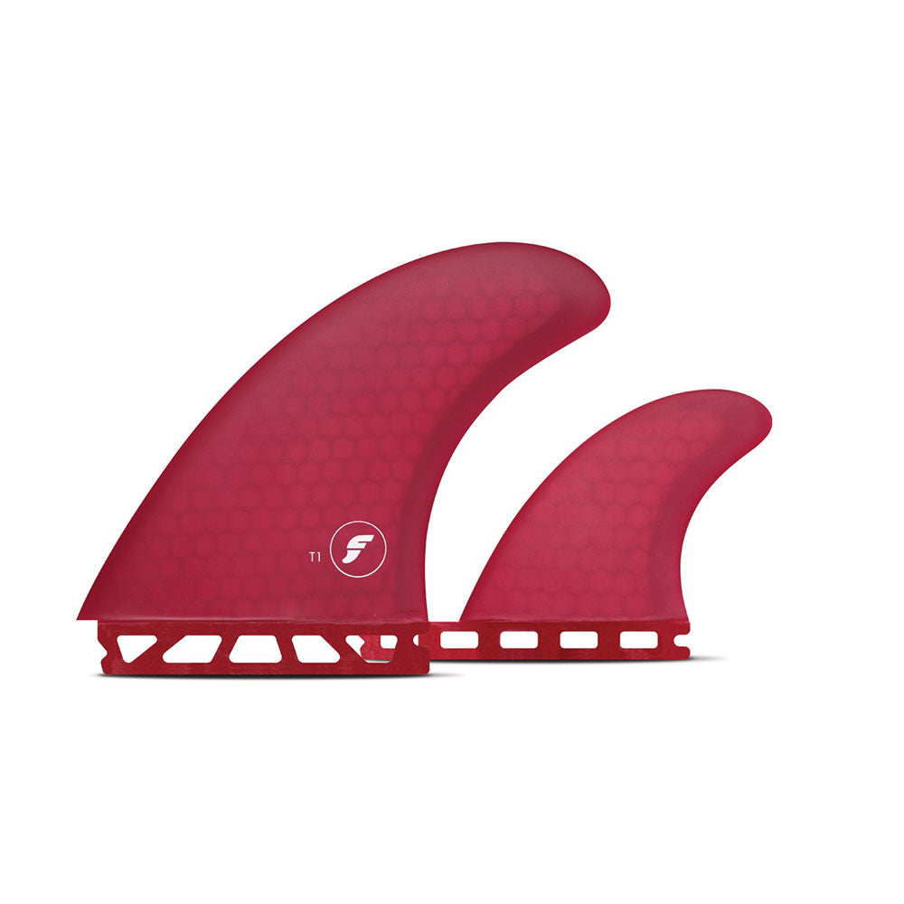 Future Fins T1 Twin Honeycomb With Trailer Red
