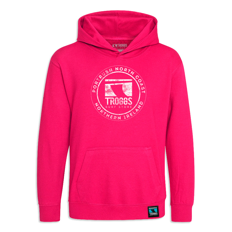 Troggs Sticker Hoody - Hot Pink