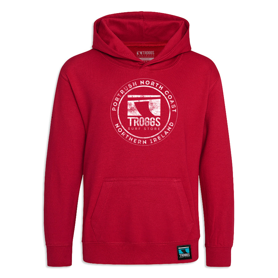 Troggs Kids Sticker Hoodie Red Hot Chilli
