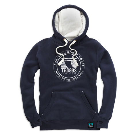 Troggs Sticker Zipped Hoodie French Navy