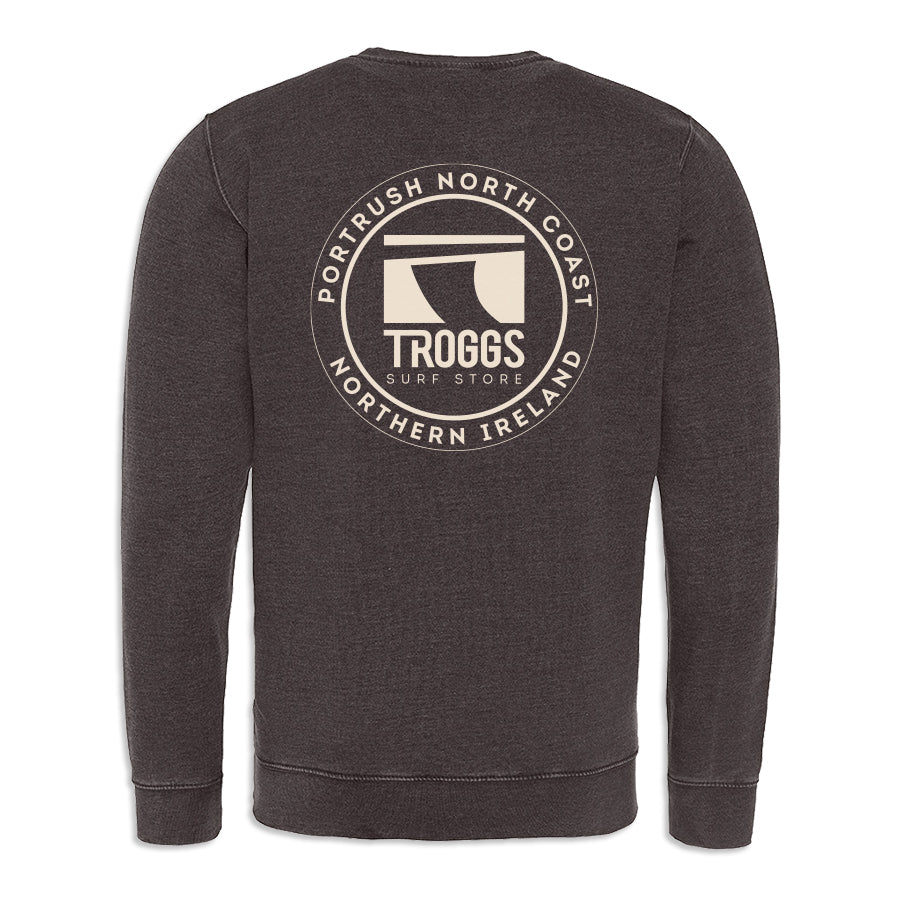 Troggs Patch Washed Sweatshirt Charcoal