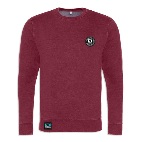 Troggs Patch Washed Sweatshirt Burgandy