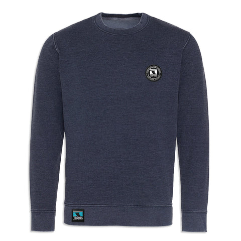 Troggs Patch Washed Sweatshirt Navy