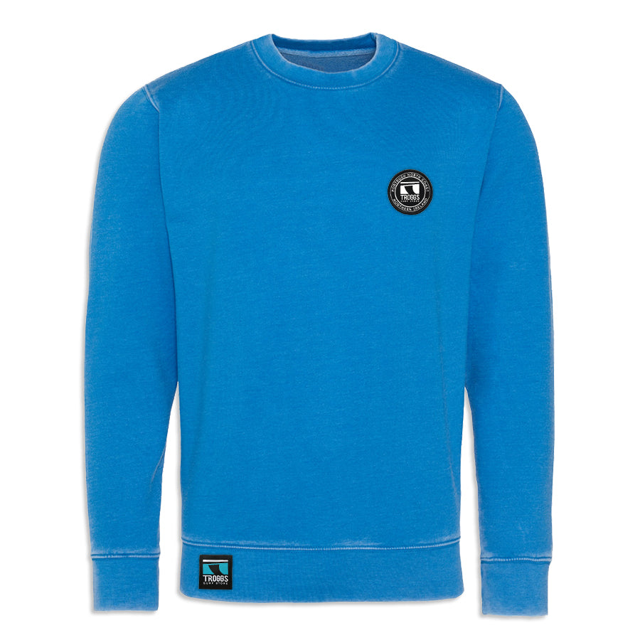 Troggs Patch Washed Sweatshirt Sapphire Blue