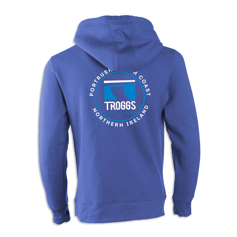 Troggs Sticker Zipped Hoodie Vintage Royal